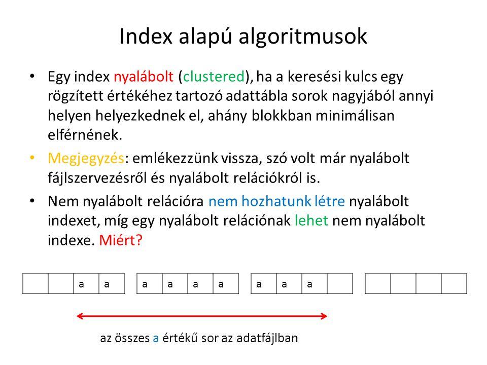 Index alapú algoritmusok