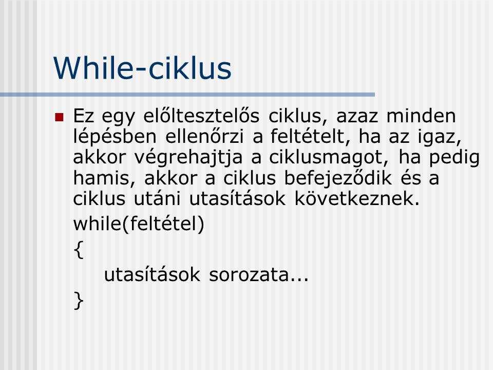 While-ciklus