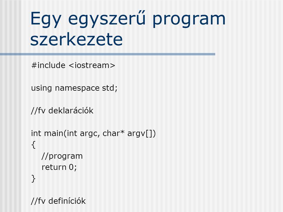 Egy egyszerű program szerkezete