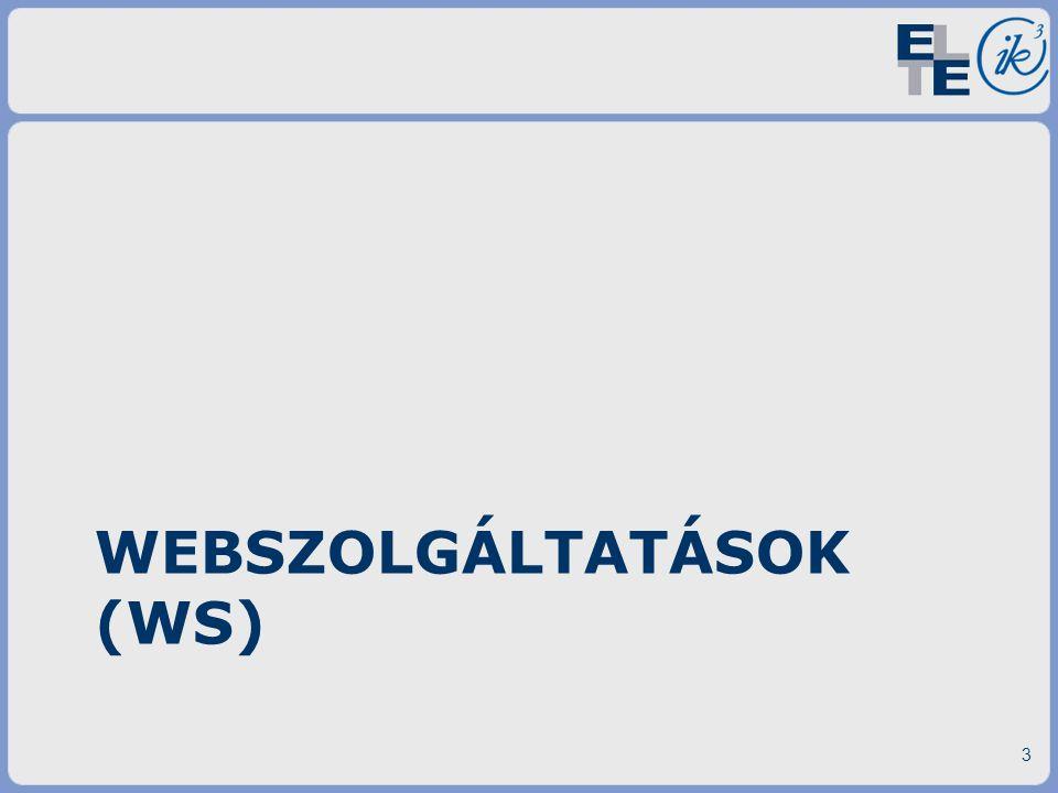 Webszolgáltatások (WS)