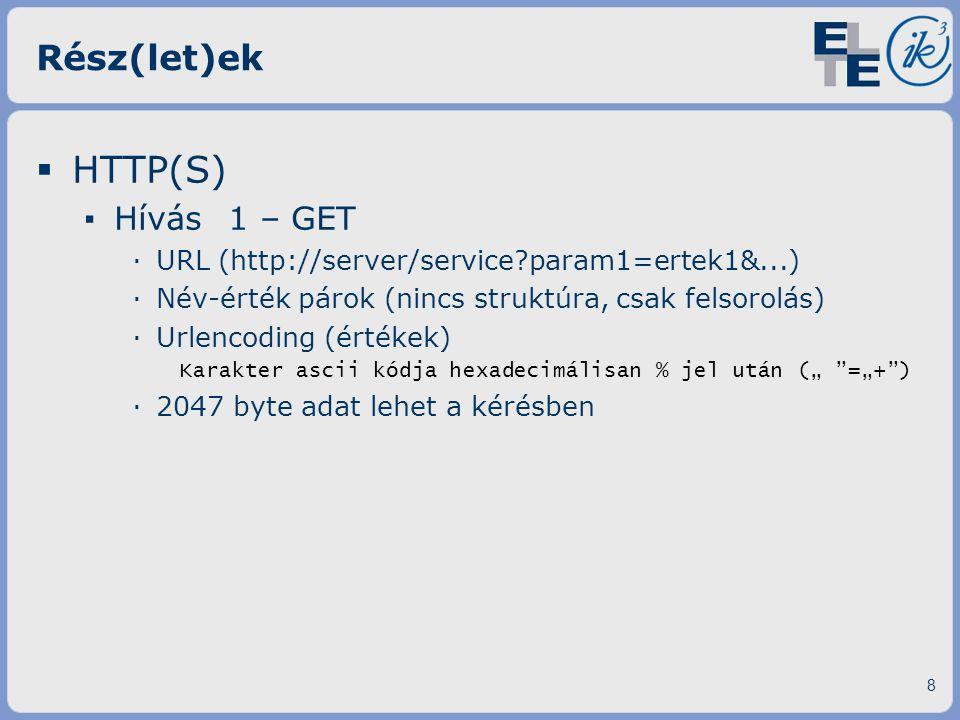 HTTP(S) Rész(let)ek Hívás 1 – GET