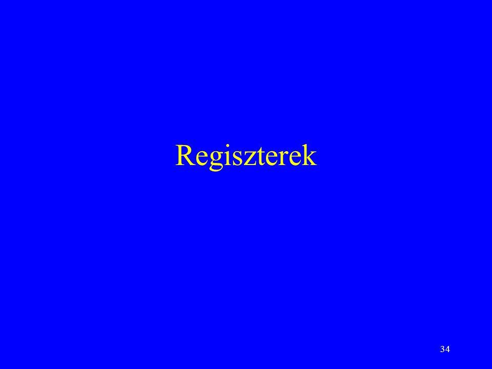 Regiszterek