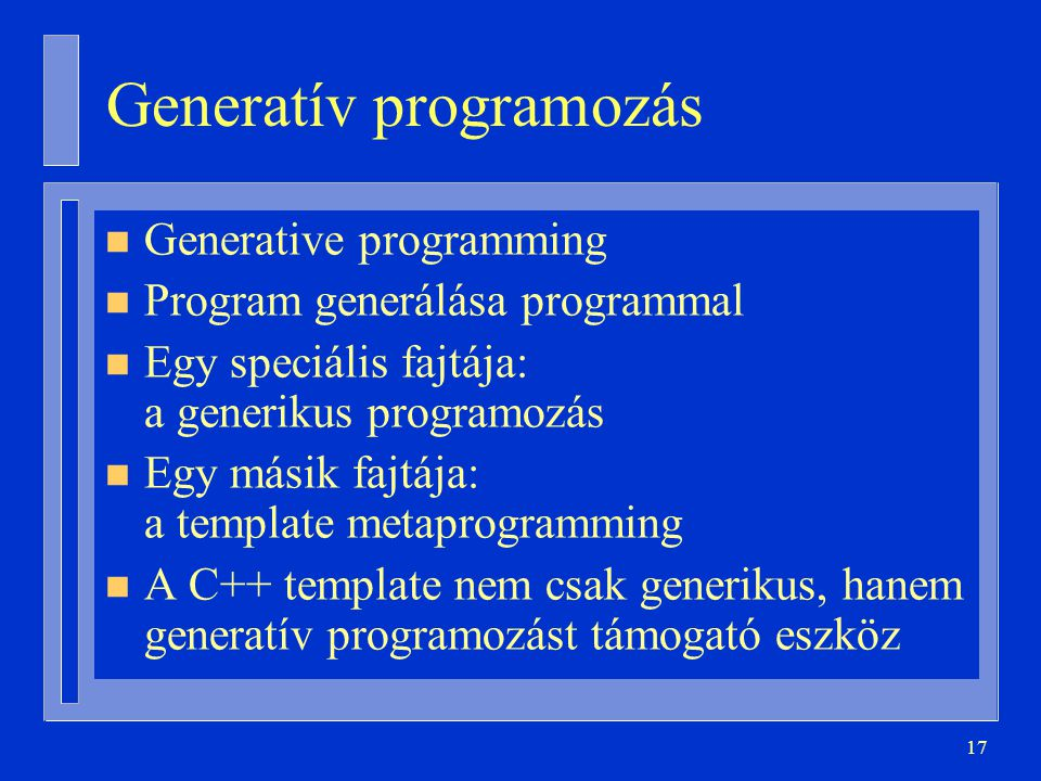 Generatív programozás