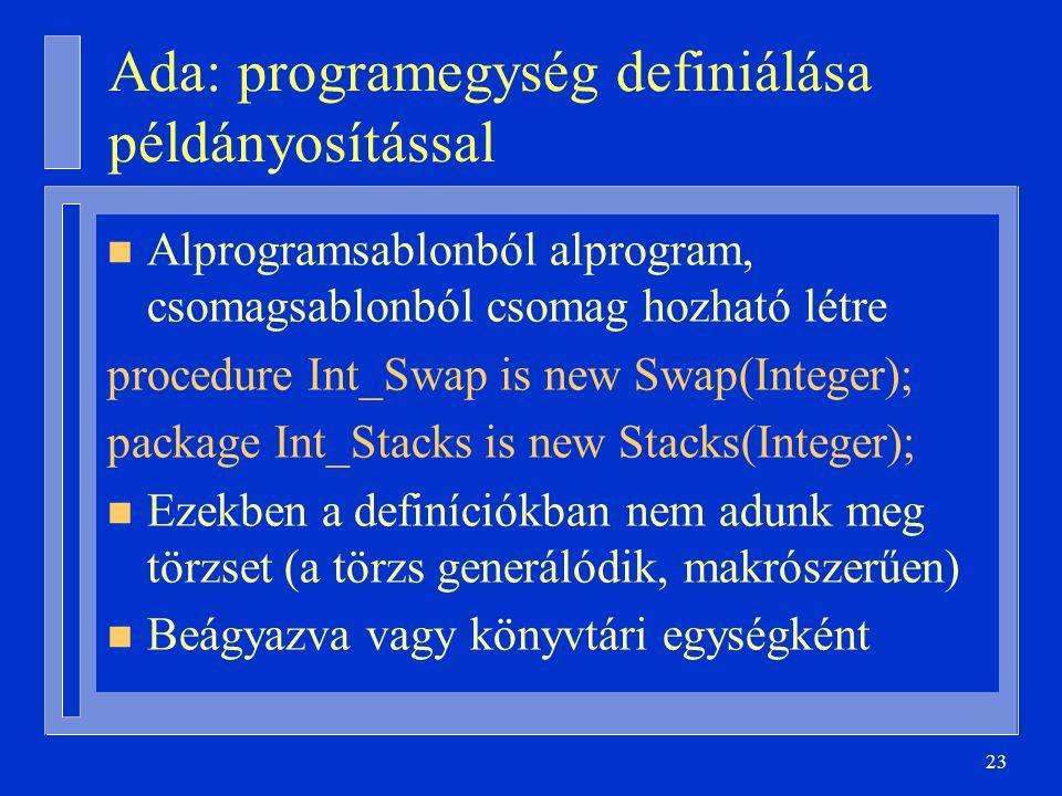 Ada: programegység definiálása példányosítással