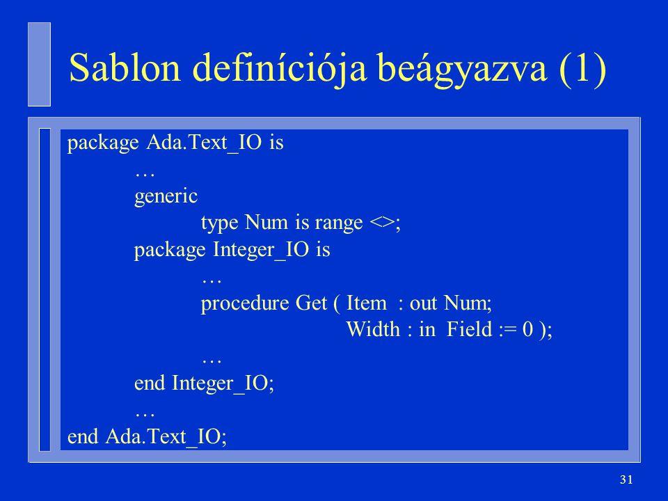 Sablon definíciója beágyazva (1)