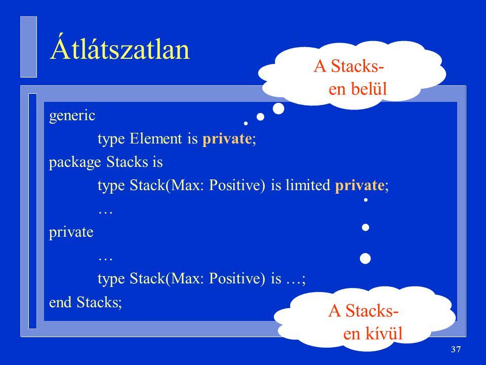 Átlátszatlan A Stacks-en belül A Stacks-en kívül generic