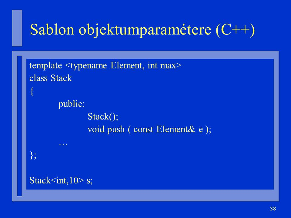 Sablon objektumparamétere (C++)