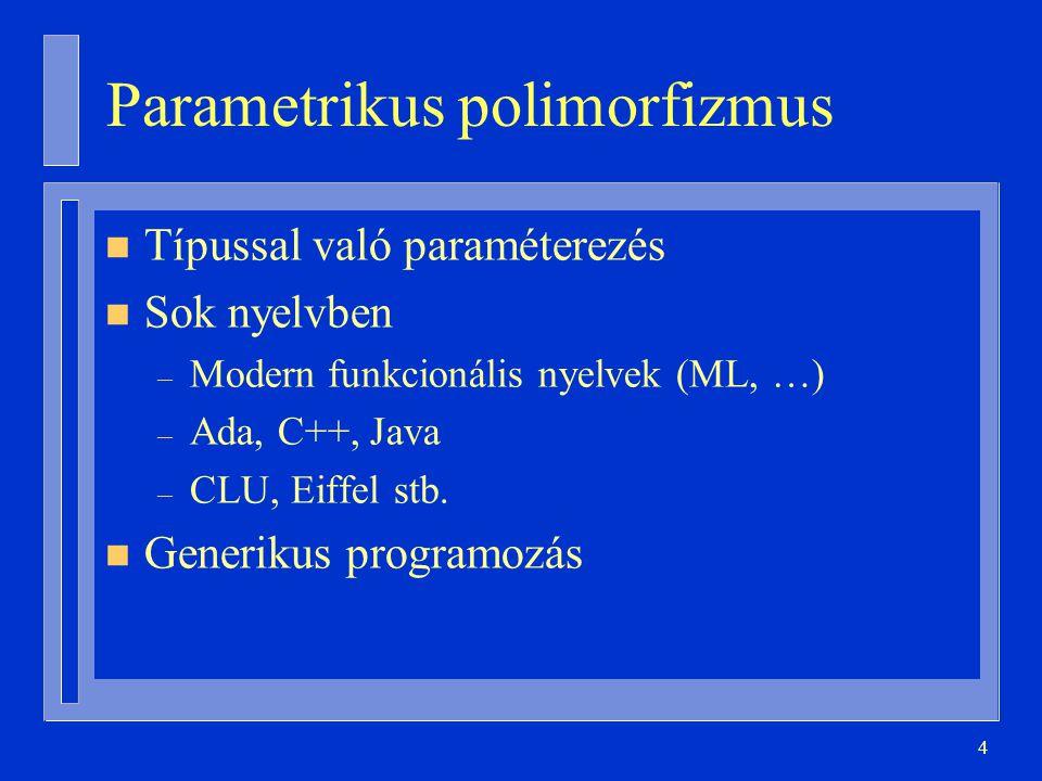 Parametrikus polimorfizmus