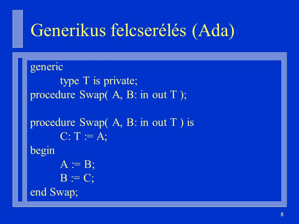 Generikus felcserélés (Ada)