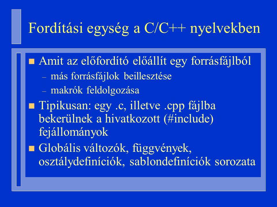 Fordítási egység a C/C++ nyelvekben