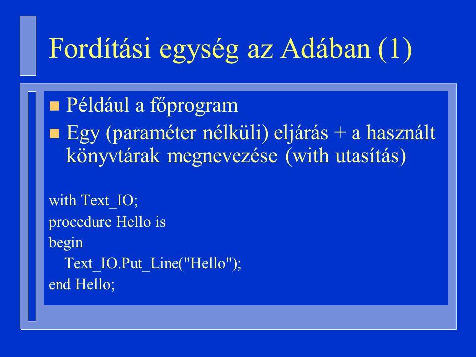 Fordítási egység az Adában (1)