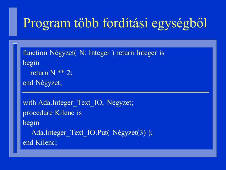 Program több fordítási egységből