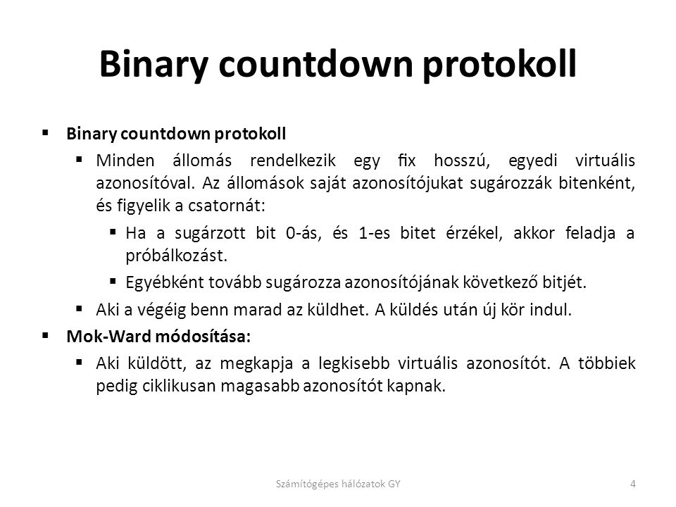 Binary countdown protokoll