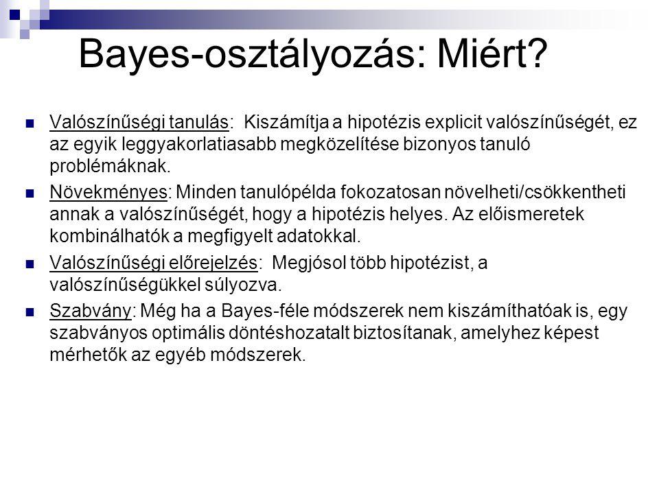 Bayes-osztályozás: Miért