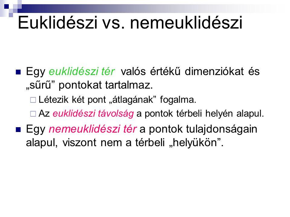 Euklidészi vs. nemeuklidészi