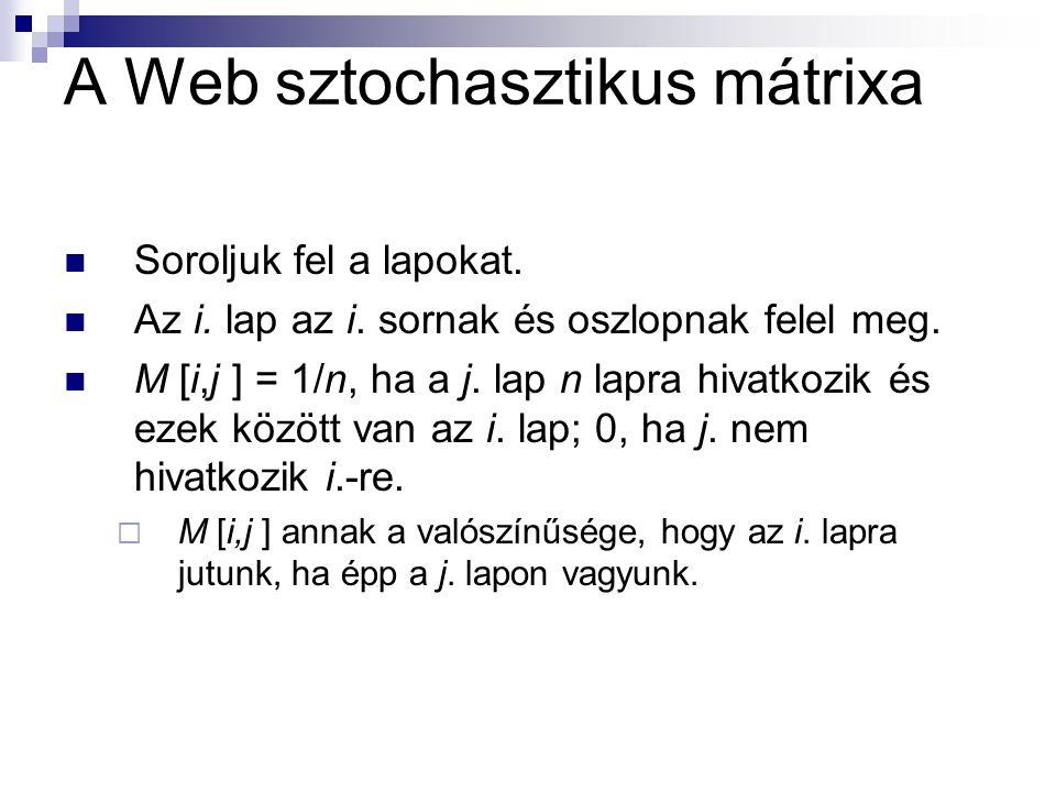 A Web sztochasztikus mátrixa