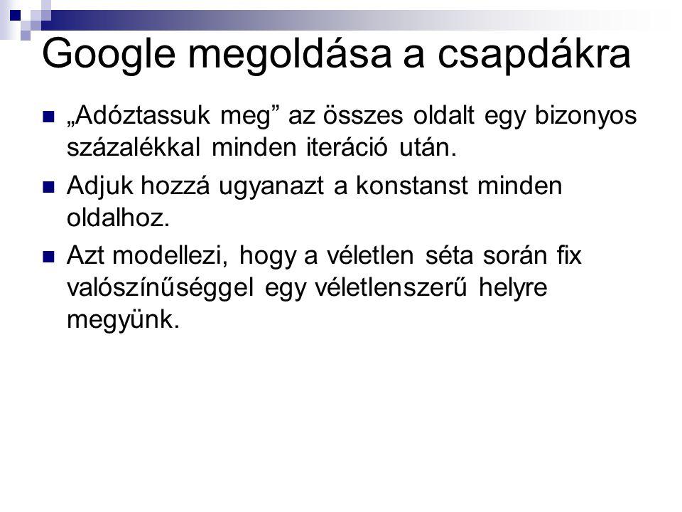 Google megoldása a csapdákra