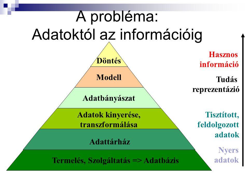 A probléma: Adatoktól az információig