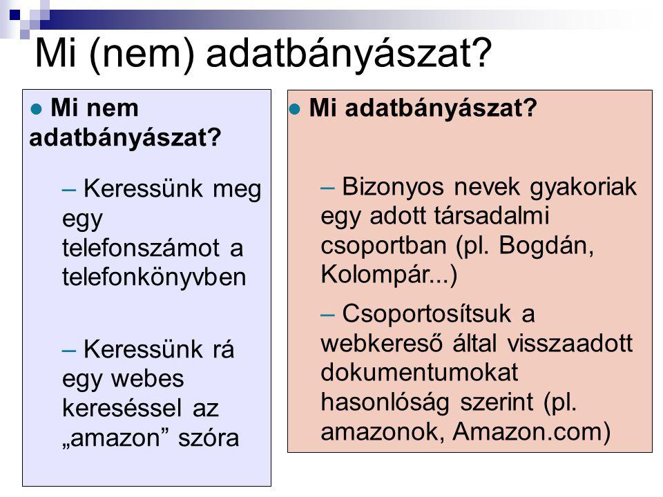 Mi (nem) adatbányászat