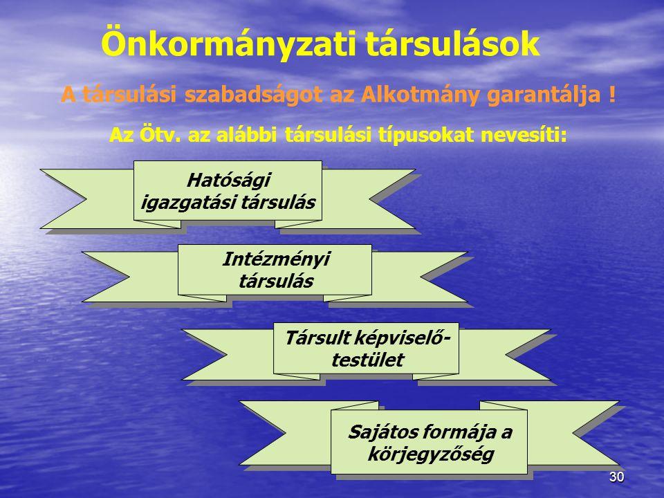 Önkormányzati társulások