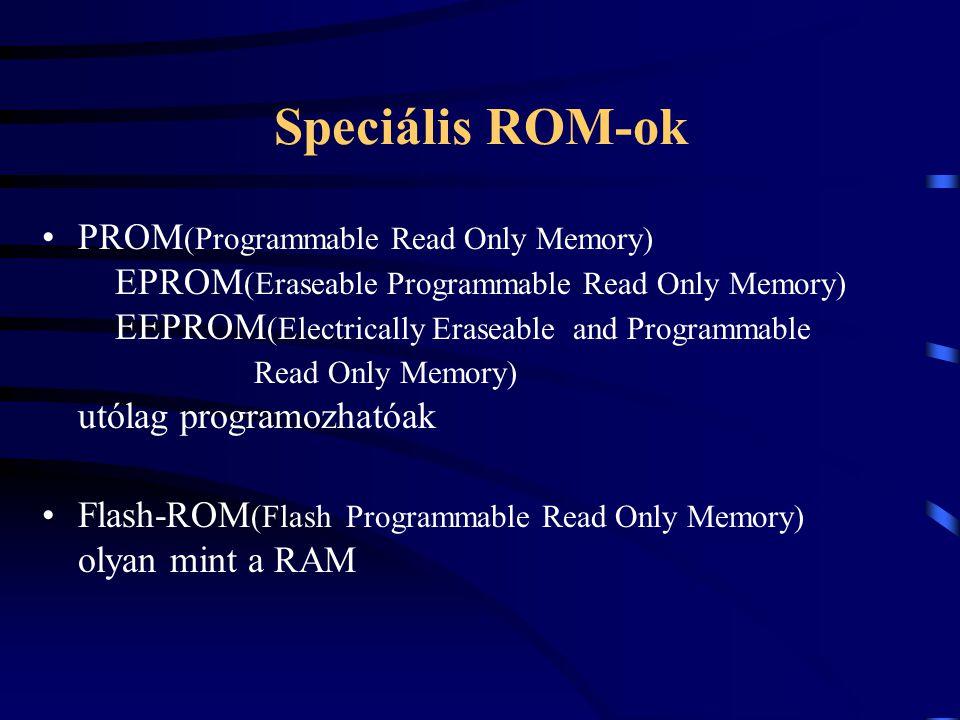 Speciális ROM-ok