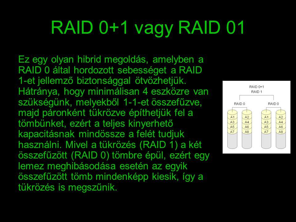RAID 0+1 vagy RAID 01