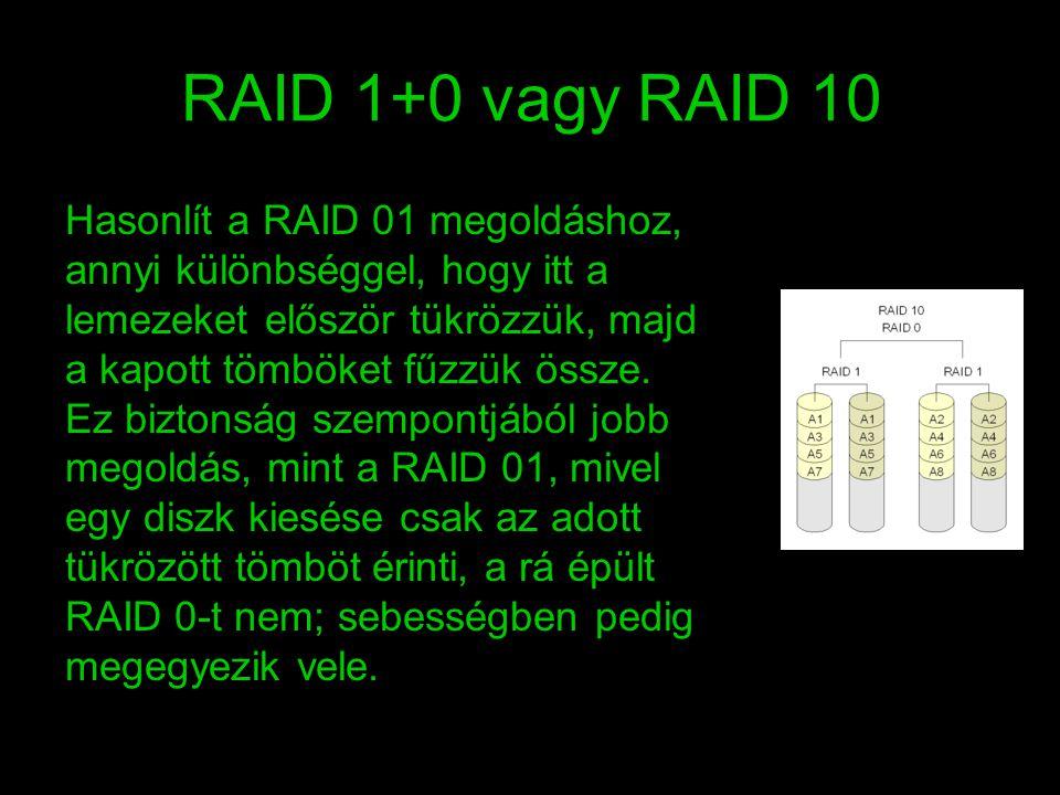 RAID 1+0 vagy RAID 10