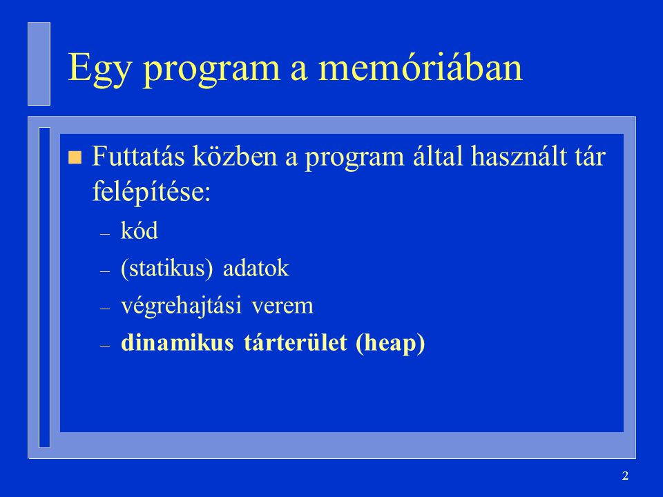 Egy program a memóriában