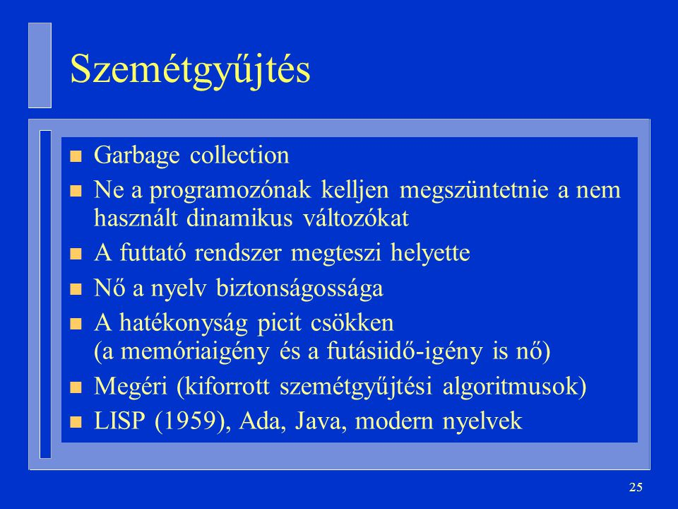 Szemétgyűjtés Garbage collection