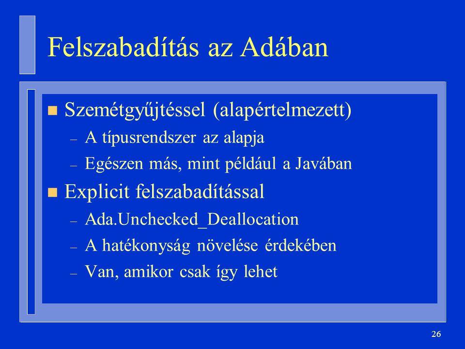 Felszabadítás az Adában