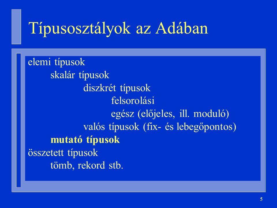 Típusosztályok az Adában