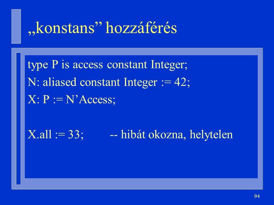 """""""konstans hozzáférés"""