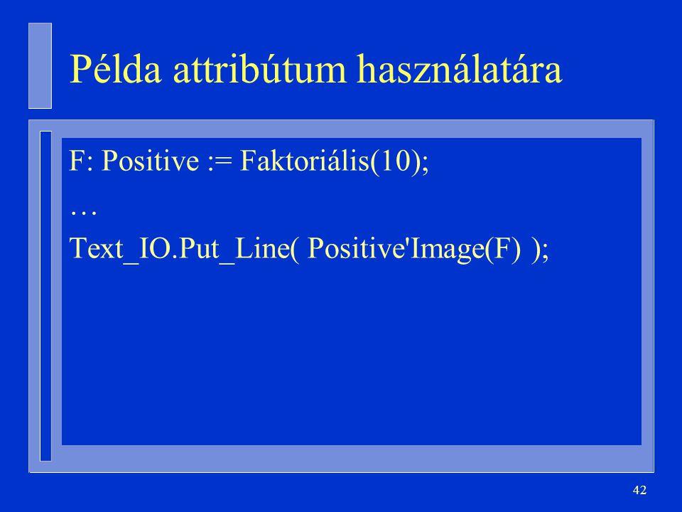 Példa attribútum használatára