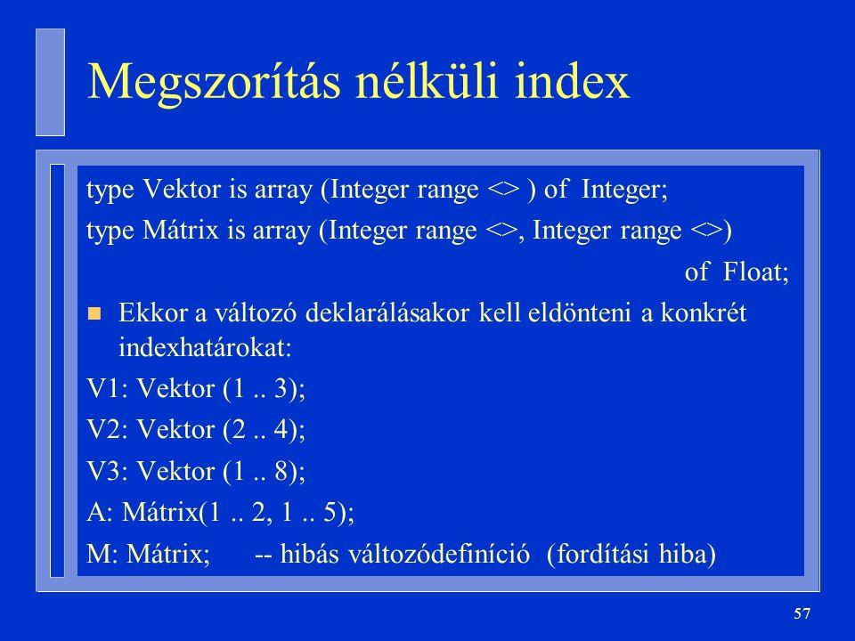 Megszorítás nélküli index