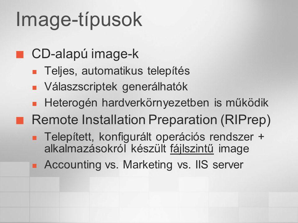 Image-típusok CD-alapú image-k