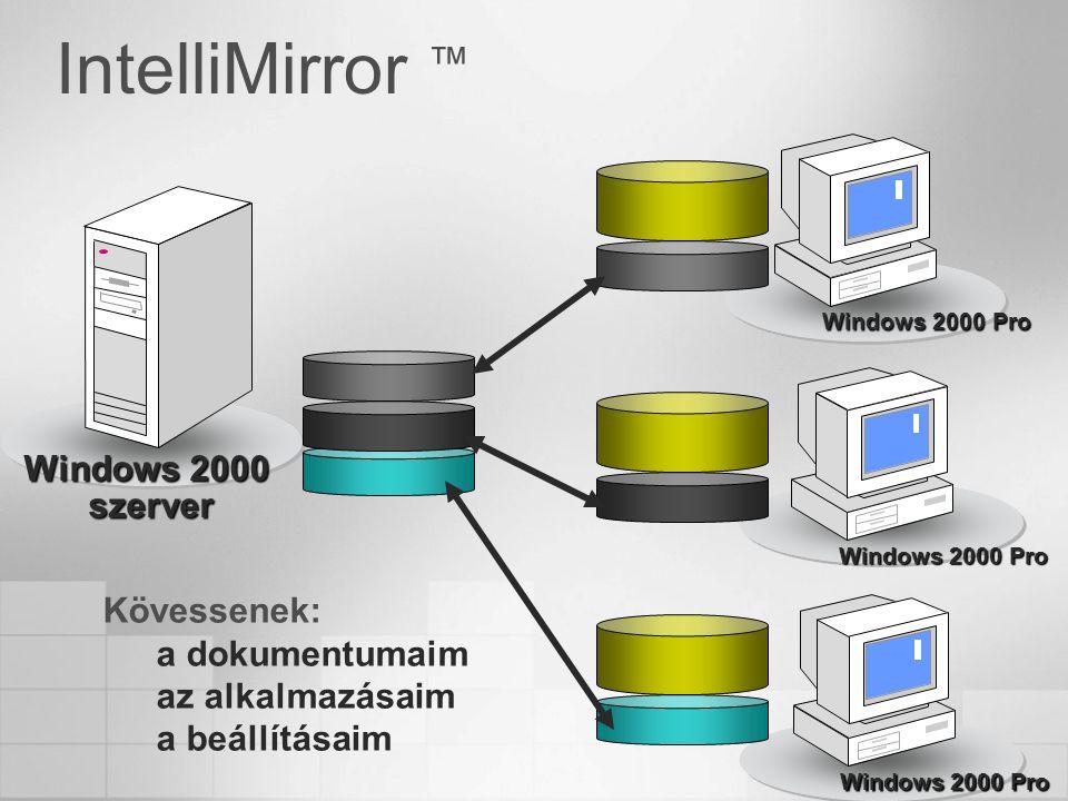 IntelliMirror ™ Windows 2000 szerver Kövessenek: