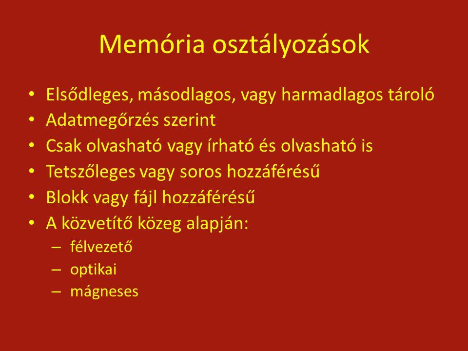 Memória osztályozások