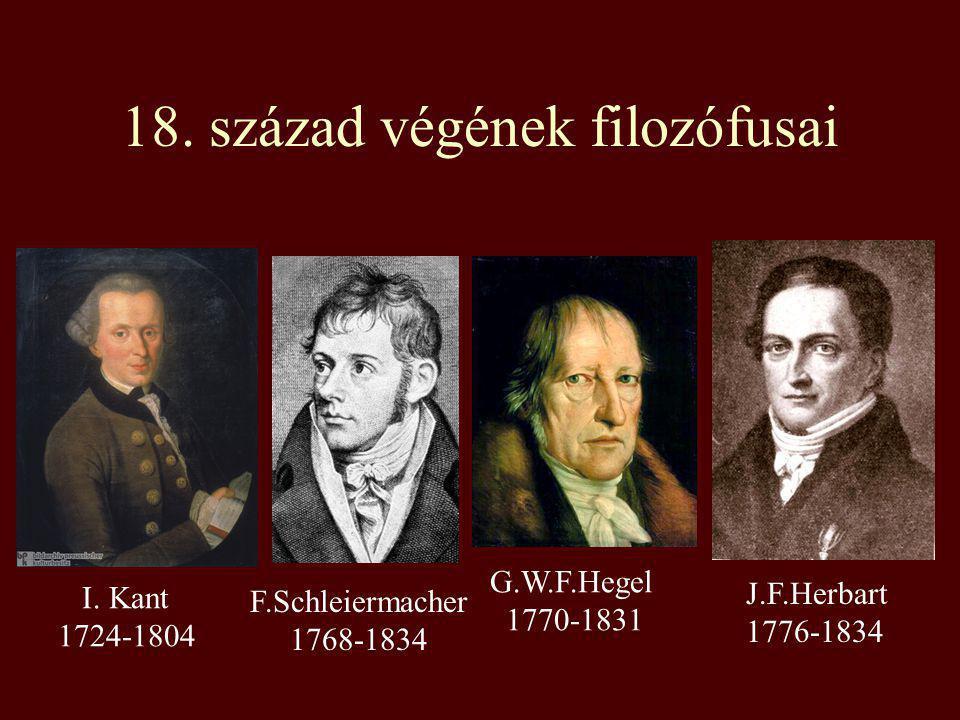 18. század végének filozófusai