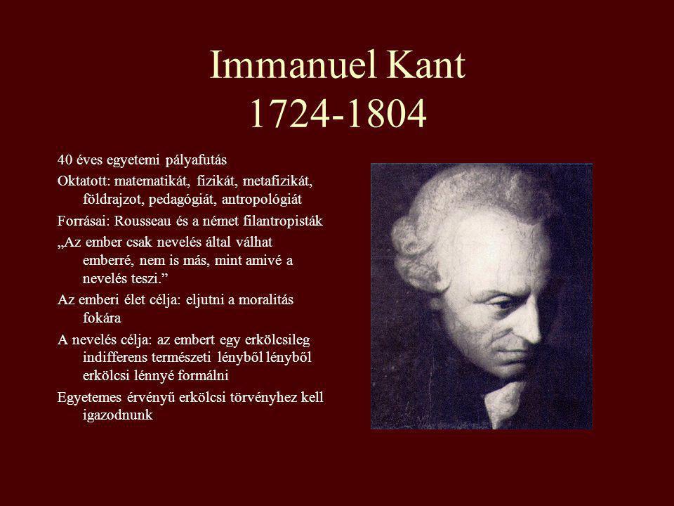 Immanuel Kant 1724-1804 40 éves egyetemi pályafutás