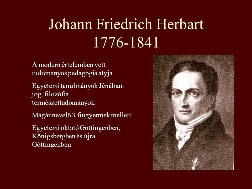 Johann Friedrich Herbart 1776-1841