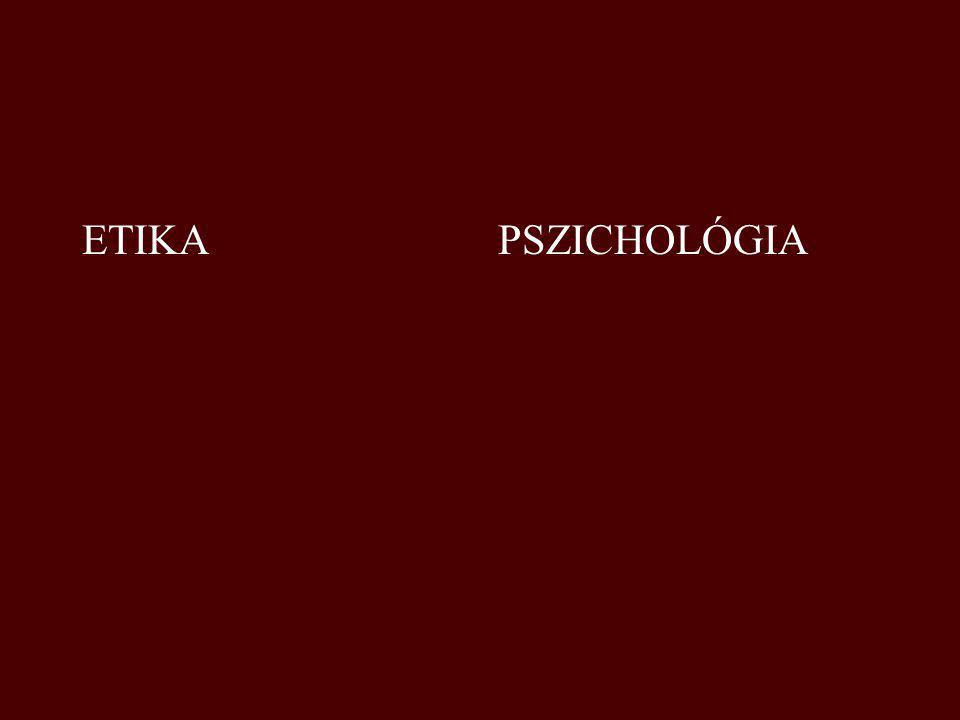 ETIKA PSZICHOLÓGIA
