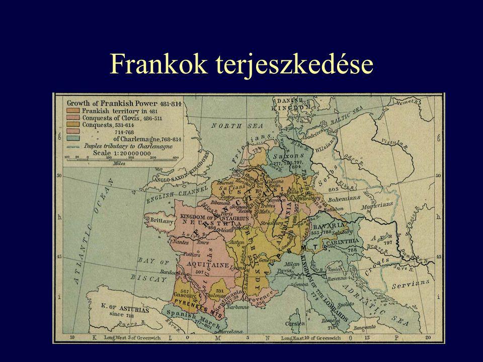 Frankok terjeszkedése
