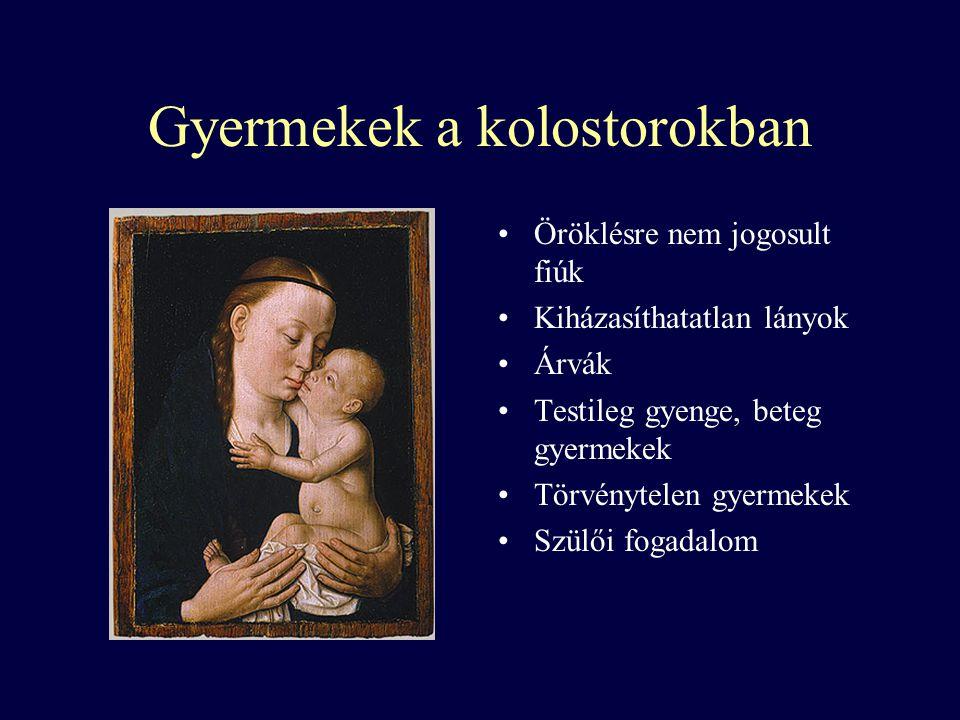 Gyermekek a kolostorokban