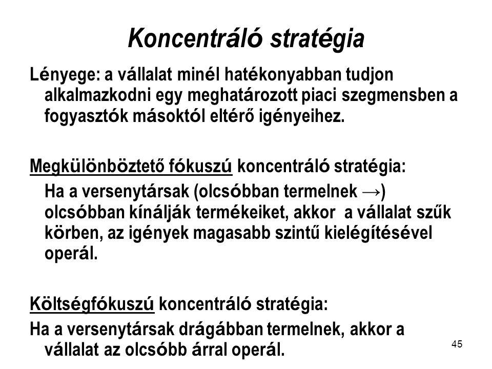 Koncentráló stratégia