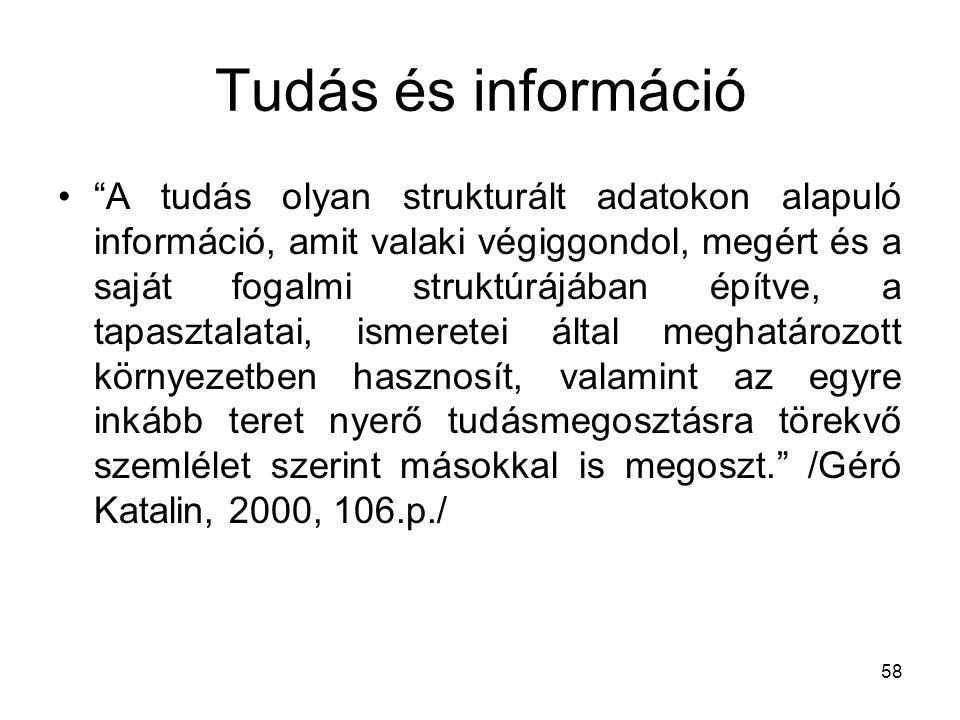 Tudás és információ