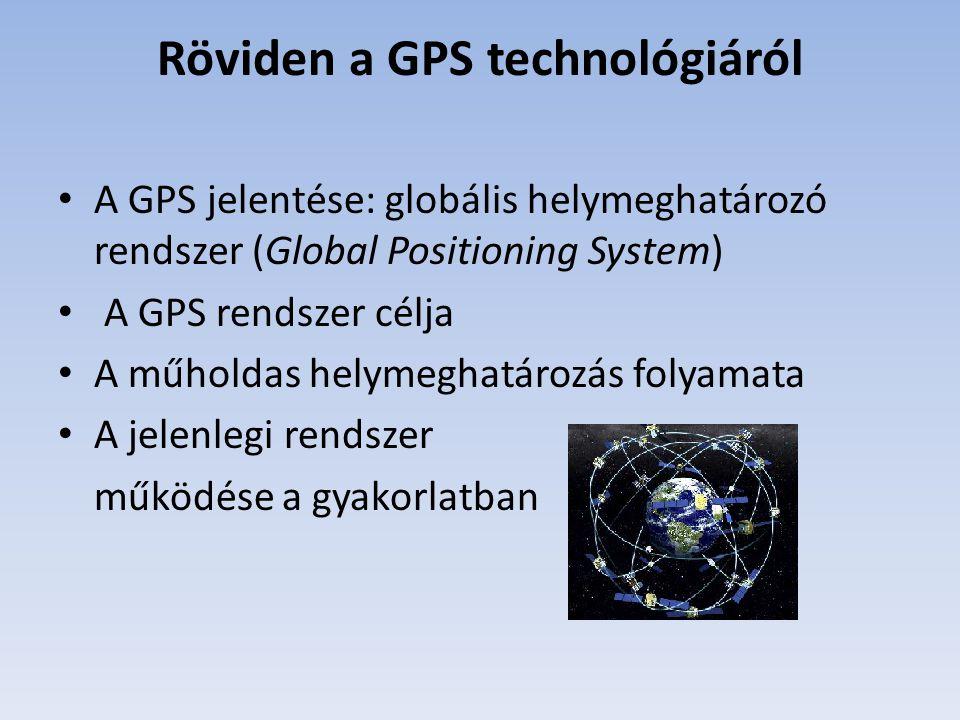 Röviden a GPS technológiáról
