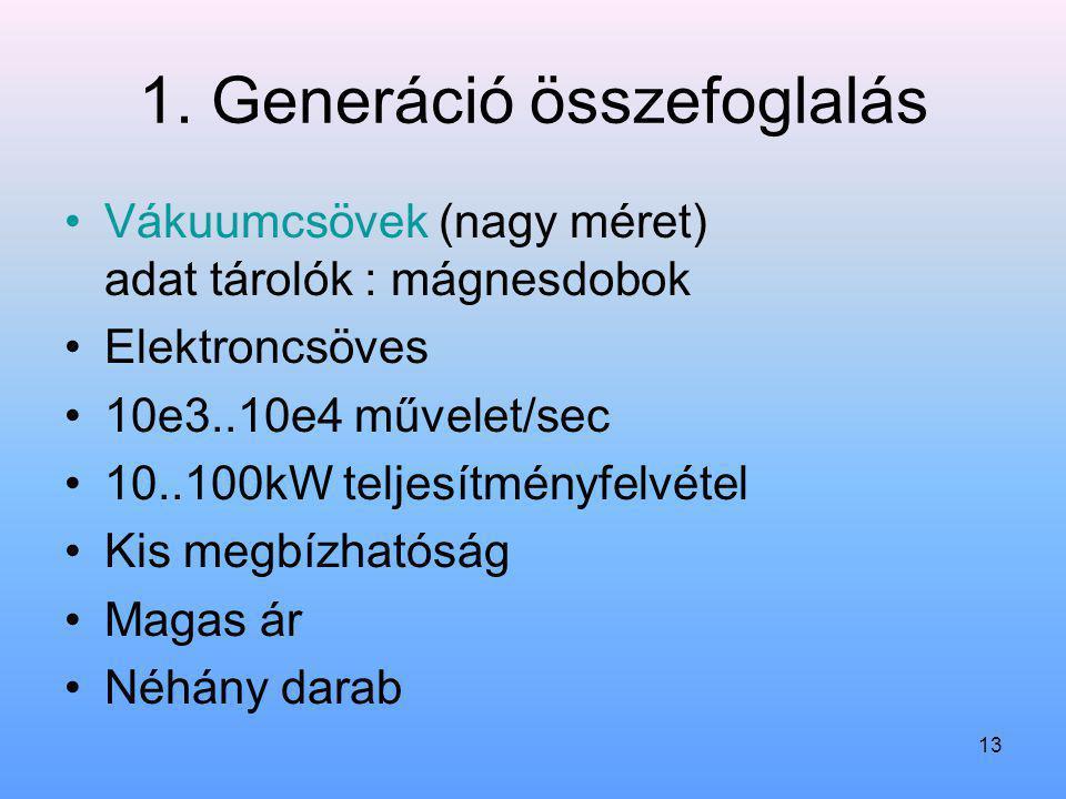1. Generáció összefoglalás