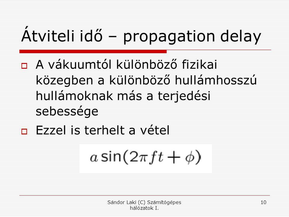 Átviteli idő – propagation delay