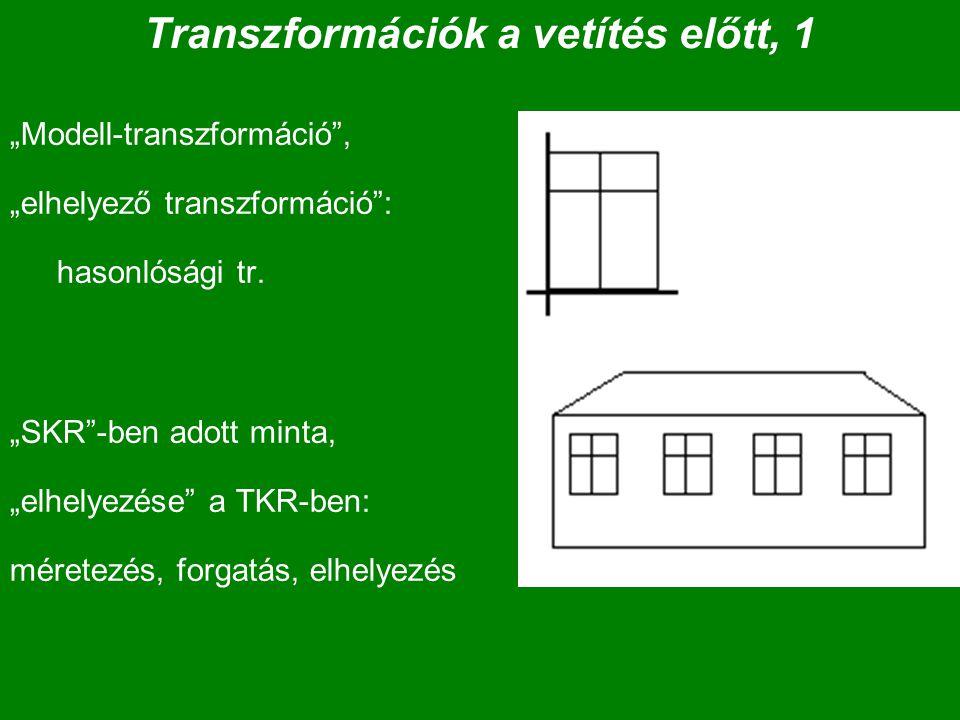 Transzformációk a vetítés előtt, 1