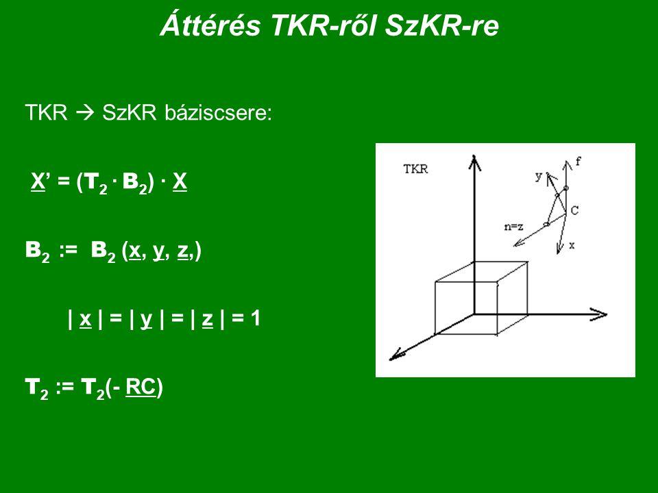 Áttérés TKR-ről SzKR-re